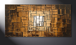 Das Wandbild 'Earth Cubes' in 120x60cm