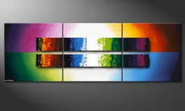 Das Wandbild 'Expression of Colours' 210x70cm