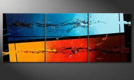 Das Wandbild 'Fire and Ice' 180x70cm