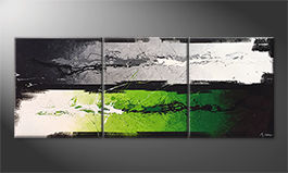 Das Wandbild 'Green Dimension' 180x70cm