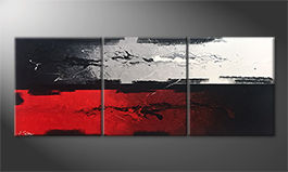Das Wandbild 'Heart and Head' 180x70cm