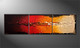 Das Wandbild 'Rage Of Earth' 210x60cm