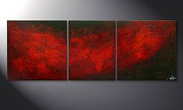 Das Wandbild 'Red Clouds' 140x50cm