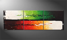 Das Wandbild 'Refresh Splash' 210x70cm