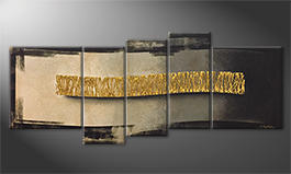 Das Wandbild 'The Golden Wave' 190x80cm