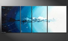 Das Wandbild 'Water Splash' in 170x70cm