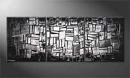 Das exklusive Bild 'Light Dice' 180x70cm