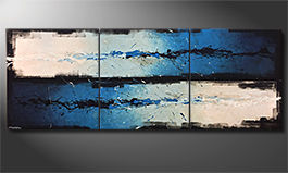 Das handgemalte Bild 'Against The Drift' 270x100x4cm