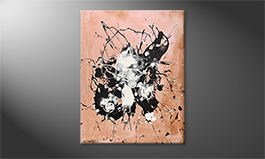 Das moderne Bild 'White On Black' 70x90cm