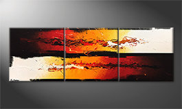 Das moderne Wandbild 'Battle Of Fire' 210x70cm