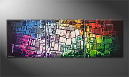 Das moderne Wandbild 'Brightly Coloured' 210x70cm