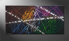 Das moderne Wandbild 'Light Reflection' 120x60cm