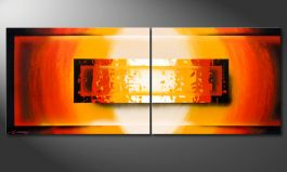 'Glowing Fire' 160x60cm Wandbild