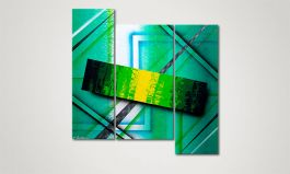 'Green Force' 100x100cm Wandbild