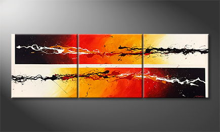 Handgefertigt: 'Fire Of Motion' 210x70cm