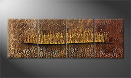Handgefertigt: 'Golden Fontains' 200x60cm
