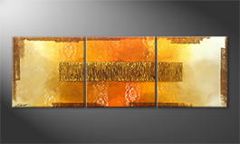Handgefertigt: 'Indian Gold' 180x60cm