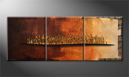 Handgefertigt: 'Indian Sunrise' 180x70cm