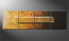 Handgefertigt: 'Middle Of Gold' 200x60cm