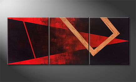 Handgemalt: 'Abstract Heat' 150x60x4cm