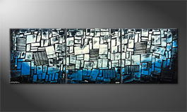 Handgemalt: 'Abstract Ice' 240x80cm