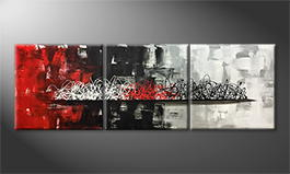 Handgemalt: 'Clash Of Moments' 210x70cm