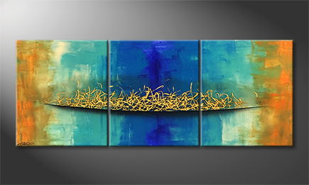 Handgemalt: 'Golden Bridge' 180x70cm