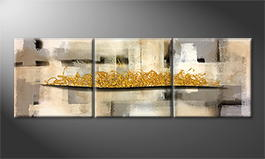 Handgemalt: 'Golden Dream' 210x70cm