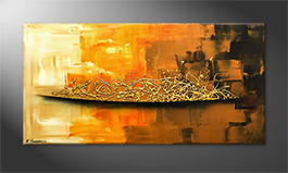 Handgemalt: 'Golden Morning' 120x60cm