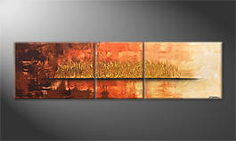 Handgemalt: 'Golden Night' 210x60cm