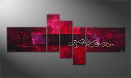 Handgemalt: 'Purple Night' 180x80cm