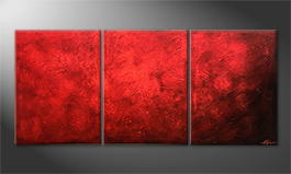 Handgemalt: 'Red Dream' 180x80cm