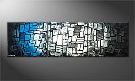 Handgemaltes Bild: 'Cold Night' 210x60cm