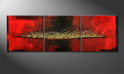 Handgemaltes Bild: 'Golden Message' 210x70cm