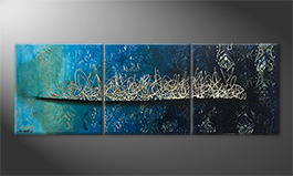 Handgemaltes Bild: 'Pacific Secret' 180x60cm