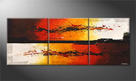 Original Handgemalt: 'Battle Of Fire' 180x70cm