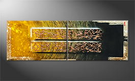 Original Handgemalt: 'Copper Rush' 200x60cm