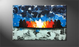 Original Handgemalt: 'Fire And Ice' 120x80cm