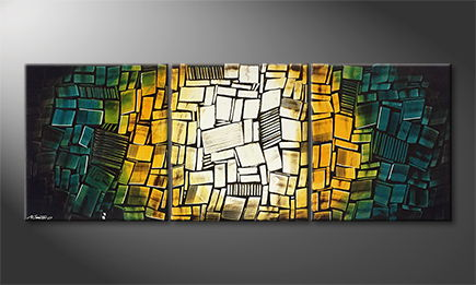 Original Handgemalt: 'Glassy Elements' 210x80cm