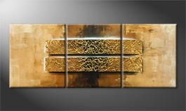 Original Handgemalt: 'Gold Of Luxor' 180x70cm