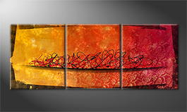 Original Handgemalt: 'Golden Autumn' 180x70cm