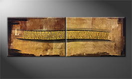 Original Handgemalt: 'Golden Connection' 180x60cm