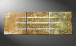 Original Handgemalt: 'Golden Easiness' 210x70cm
