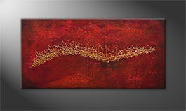 Original Handgemalt: 'Golden Movement' 140x70cm
