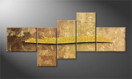 Original Handgemalt: 'Golden Night' 240x110cm