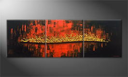 Original Handgemalt: 'Golden Tail' 210x70cm