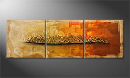 Original Handgemalt: 'Indian Sundown' 210x70cm