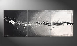 Original Handgemalt: 'Monochrome Splash' 180x70cm