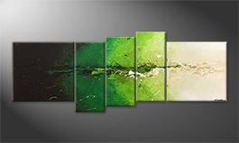 Original Handgemalt: 'Powerful Green' 210x80cm