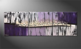 Original Handgemalt: 'Purple Dream' 210x70cm